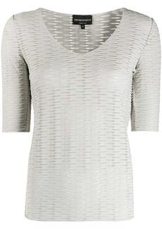 Armani jacquard effect t-shirt