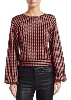 Armani Jacquard Full Sleeve Cropped Sweater
