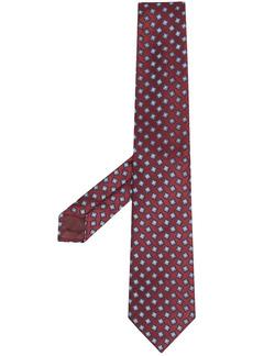 Armani jacquard geometric embroidered tie