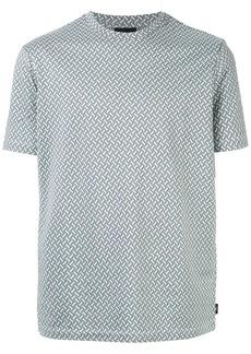Armani jacquard motif T-shirt