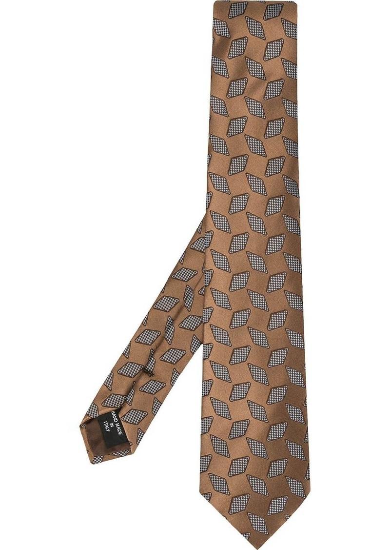 Armani jacquard print tie