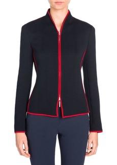 Armani Jersey Zip-Front Jacket