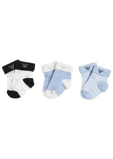 Armani Junior 3 Pairs Of Cotton Knit Socks
