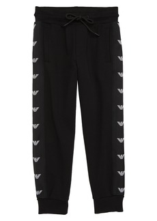 Armani Junior Logo Stripe Jogger Pants (Little Boys & Big Boys)
