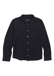 Armani Junior Long Sleeve Cotton Shirt (Little Boys & Big Boys)