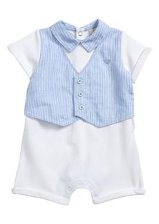Armani Junior Romper with Vest (Baby Boys)