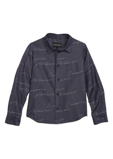 Armani Junior Script Logo Shirt (Little Boys & Big Boys)