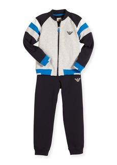 Armani Junior Stretch Jersey Track Jacket & Pants