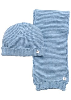 Armani Junior Cotton & Wool Blend Tricot Scarf & Hat