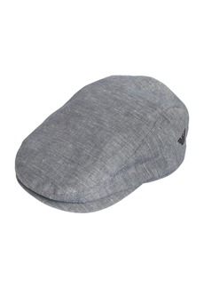 Armani Junior Linen & Cotton Blend Flat Cap