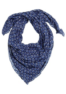 Armani Junior Logo Printed Fine Knit Scarf
