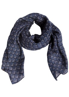 Armani Junior Logo Printed Viscose Scarf