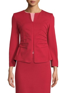 Armani Kate Sunburst Zip-Front Jersey Jacket