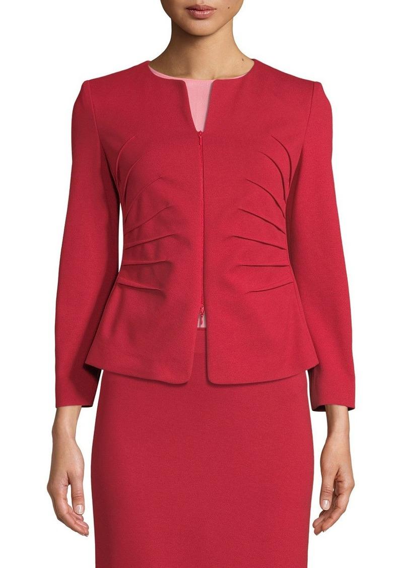 Armani Kate Sunburst Zip-Front Jersey Jacket