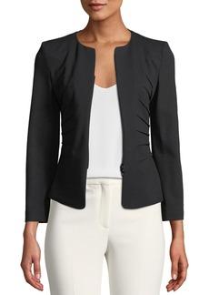 Armani Kate Zip-Front Sunburst Jersey Jacket