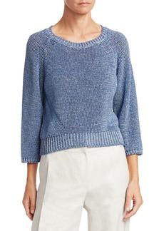 Armani Knit Crop Raglan-Sleeve Sweater