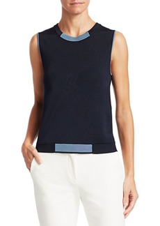 Armani Knit Sleeveless Top