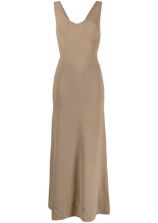 Armani knitted fitted long dress