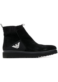 Armani knitted lining ankle boots