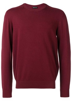 Armani knitted ribbed detailed jumper
