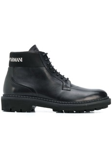 Armani lace-up boots