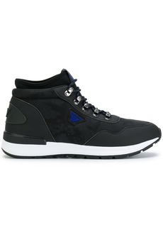 Armani lace-up hi-top sneakers