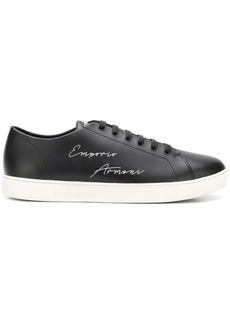 Armani lace up logo sneakers
