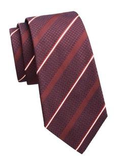 Armani Layered Diagonal Stripe Tie