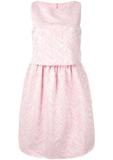 Armani layered peplum mini dress