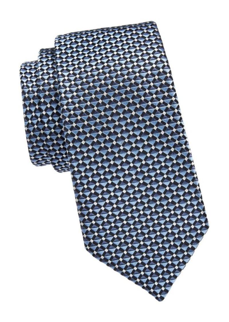 Armani Layered Stripe Silk Tie