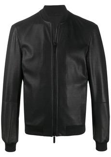 Armani leather bomber jacket