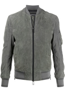 Armani leather bomber jacket