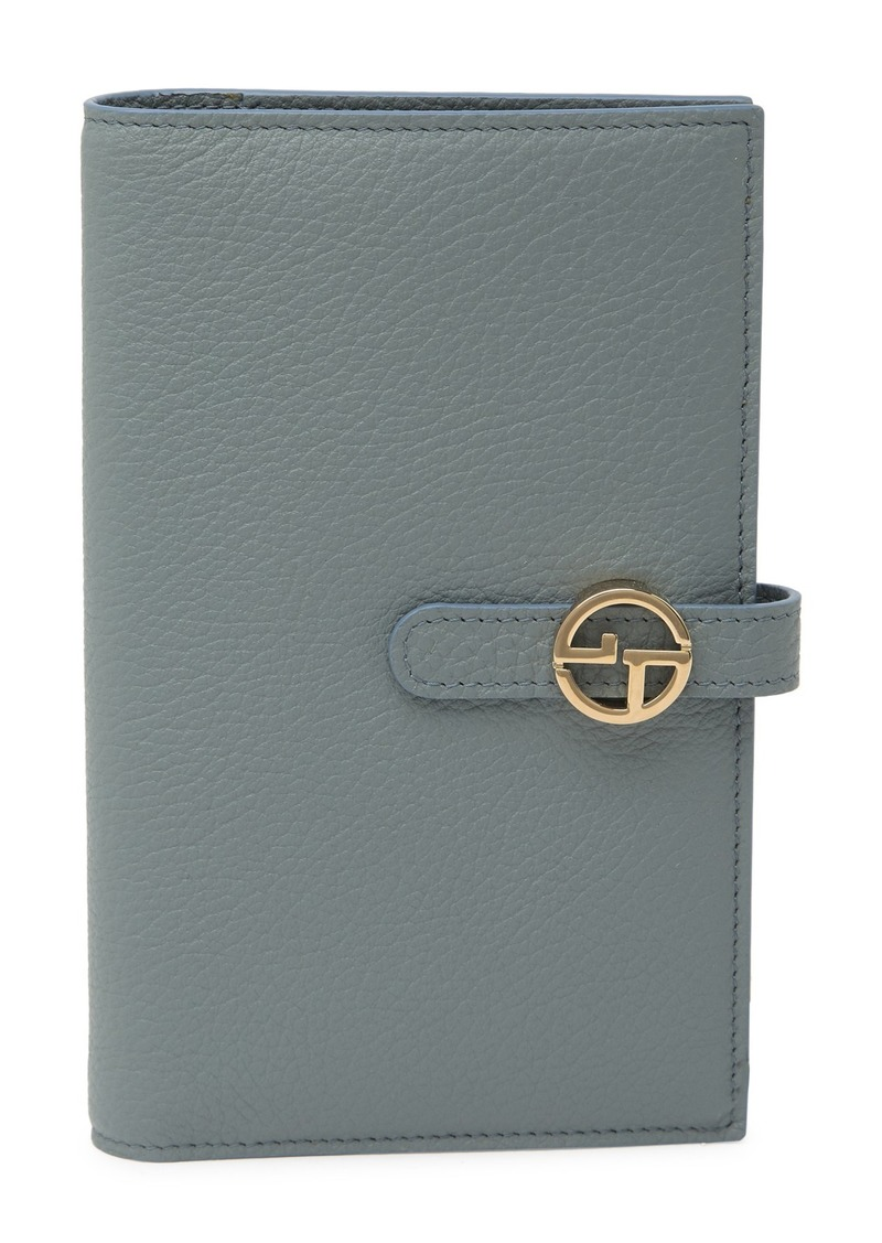 Armani Leather Checkbook Wallet