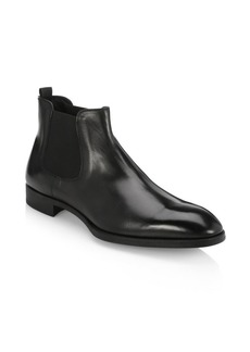 Armani Leather Chelsea Boots