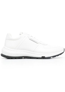 Armani leather-panel lace-up trainers