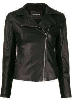 Armani leather zip-up jacket