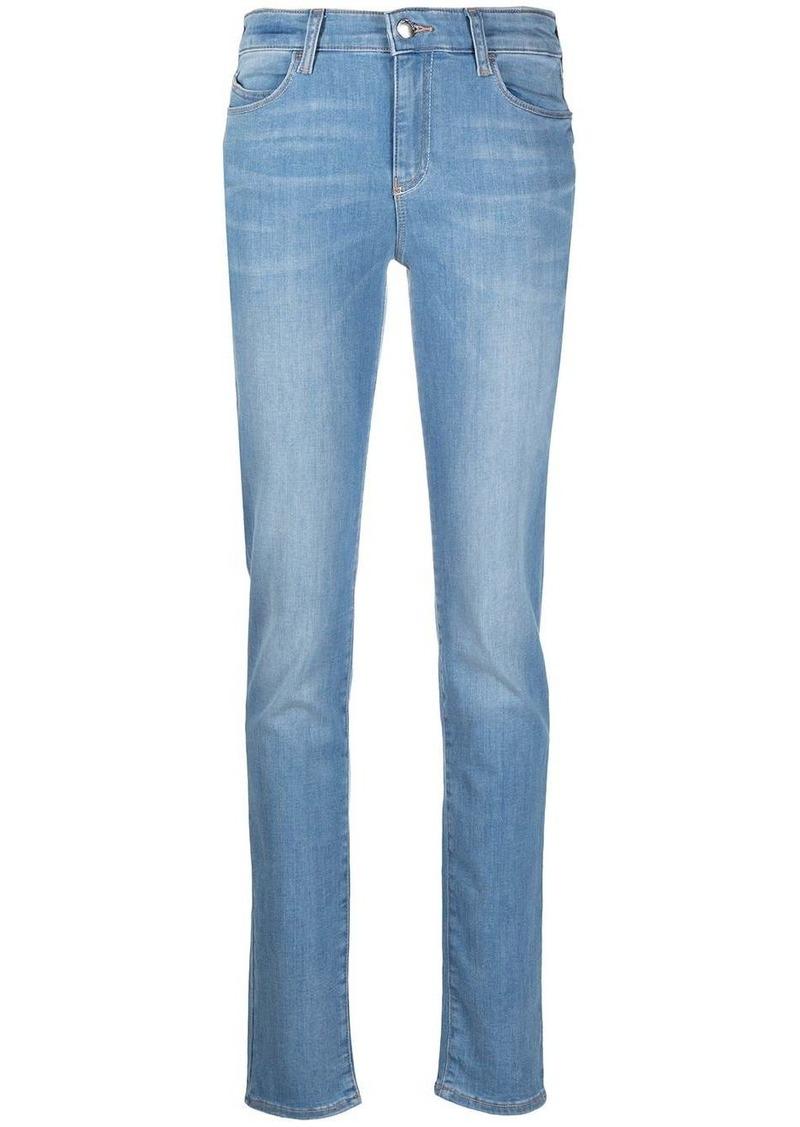 Armani light wash skinny jeans