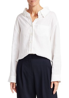 Armani Linen Button-Down Shirt