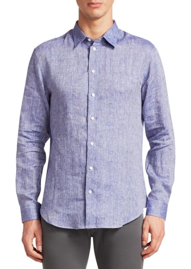 Armani Linen Button-Down Shirt