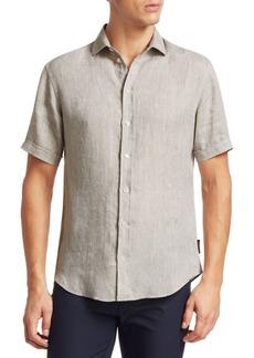Armani Linen Short Sleeve Shirt