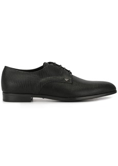 Armani lizard effect derby shoes