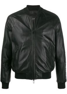 Armani logo band bomber jacket