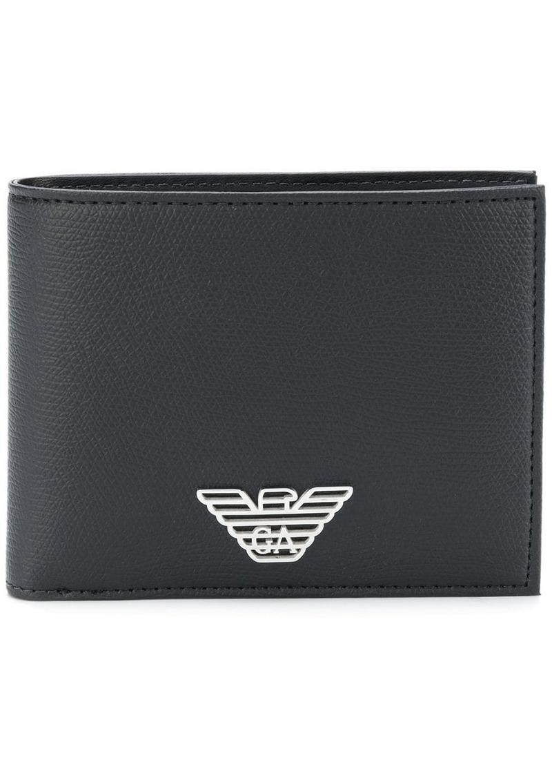 Armani logo billfold wallet