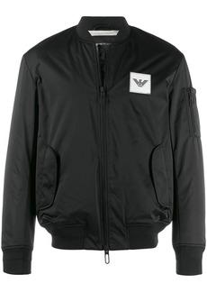 Armani logo bomber jacket