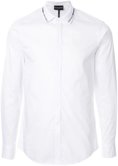 Armani logo collar shirt