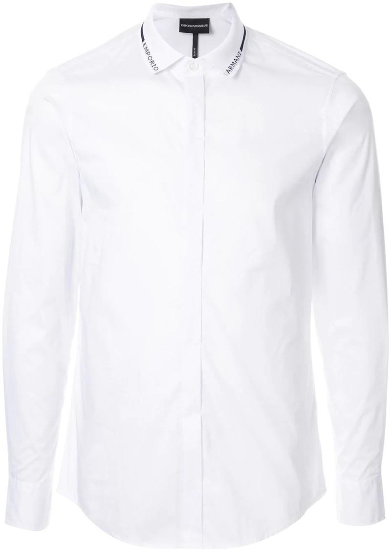 Armani logo collar shirt