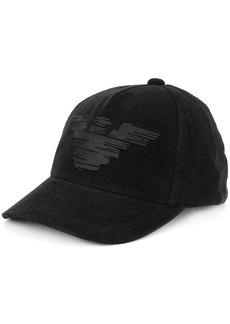 Armani logo corduroy baseball cap