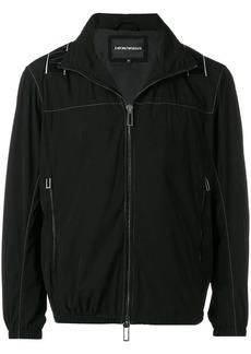 Armani logo crossover tape jacket