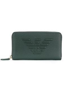 Armani logo debossed wallet