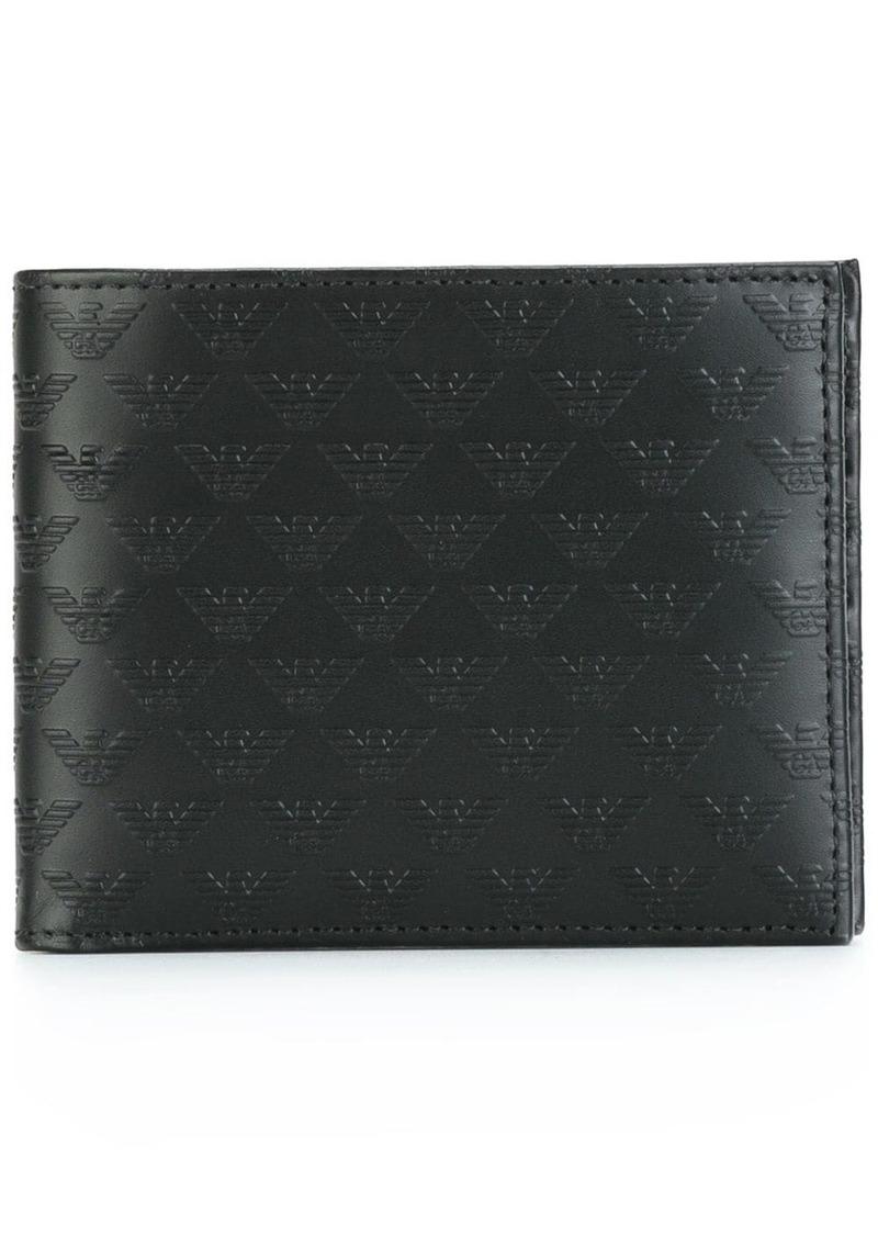 Armani logo emblazoned portfolio wallet
